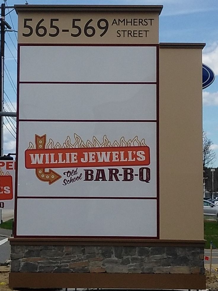 Tenant Monument for Willie Jewell's Old School Bar-B-Q, Amherst, NH