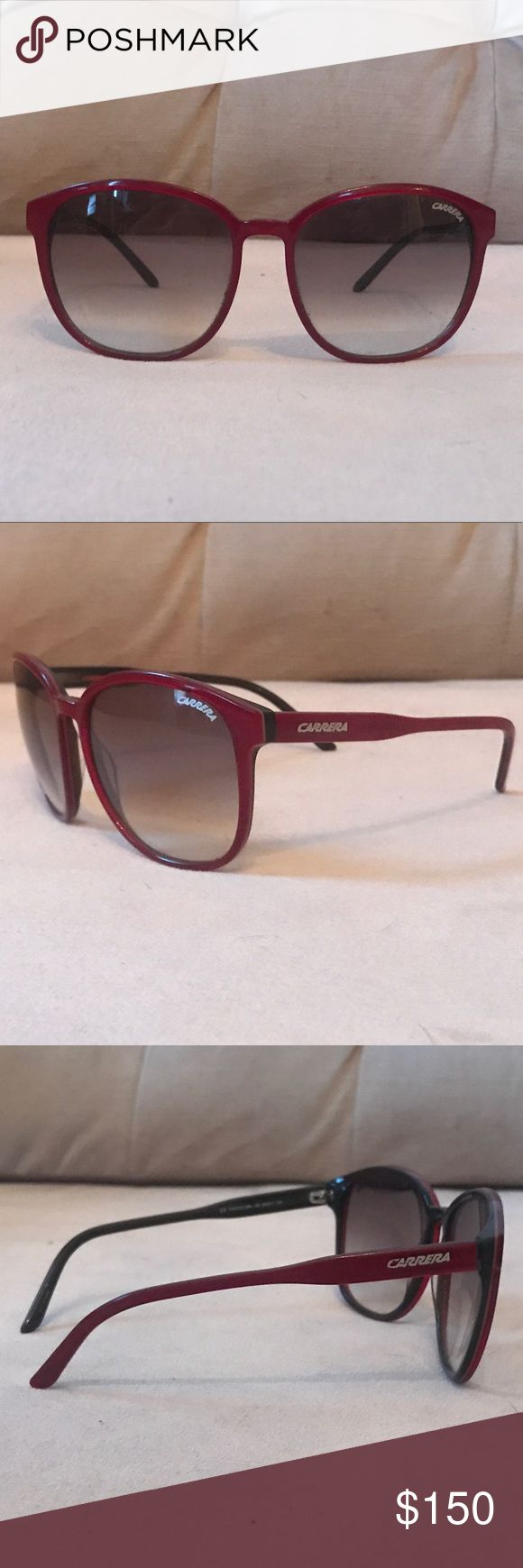 Carrera Sunglasses Red Carrera Sunglasses. Used only a couple times. Great condition! Carrera Accessories Sunglasses
