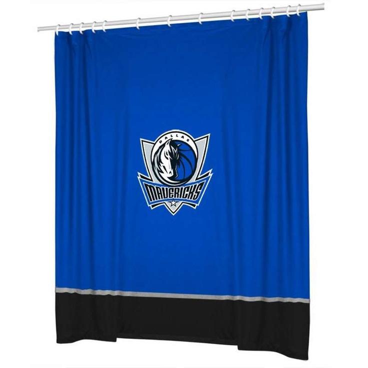 Dallas Mavericks Sidelines Shower Curtain $39.60 #dallas #nba