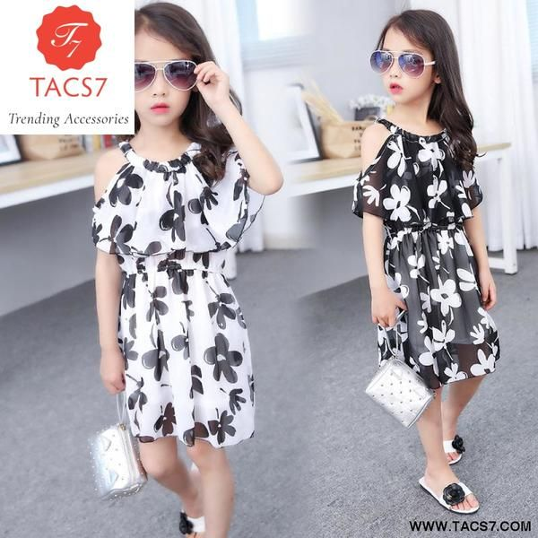 Summer Girl Dress Cotton Casual Children Clothing4 12 Years
