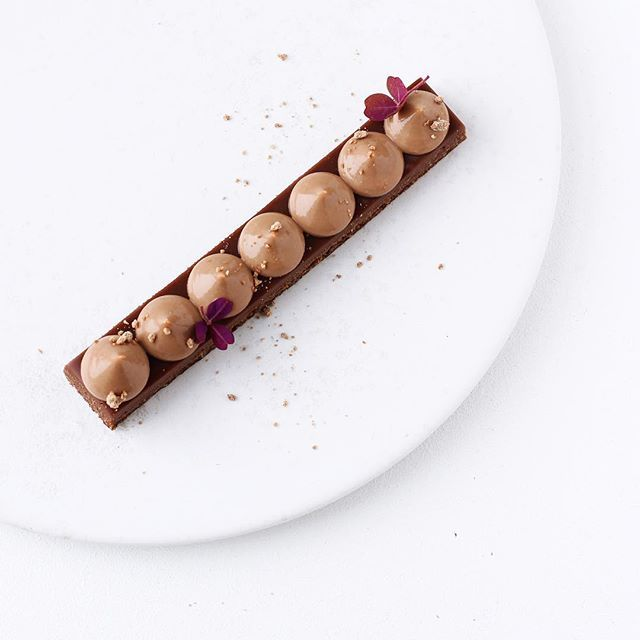 majachocolat: Rich chocolate nut tart with to-die-for-delicious chocolate cremeux on top