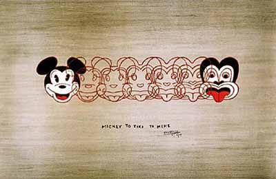Mickey to Tiki by Dick Frizzell for Sale - New Zealand Art Prints