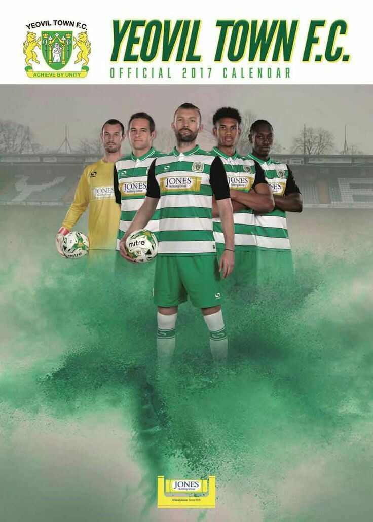 Yeovil Town Official 2017 Calendar cover.