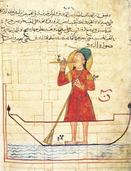 DESIGN FOR AN AUTOMATON, FROM 'BOOK OF KNOWLEDGE OF INGENIOUS MECHANICAL DEVICES' BY AL-DJAZARI, 1206