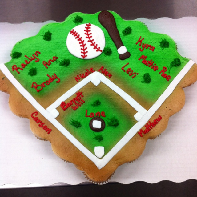 Pictures Of Baseball Themed Birthday Cakes