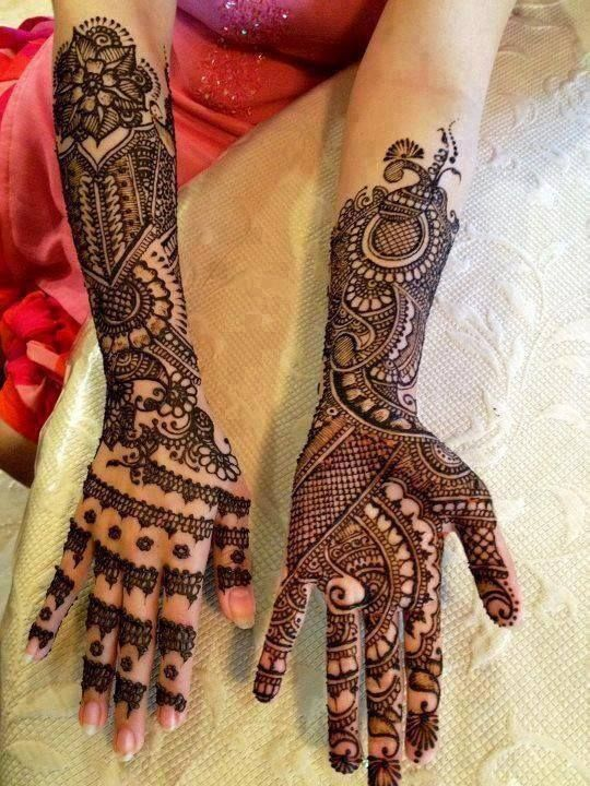 csipke mintás henna tetoválás