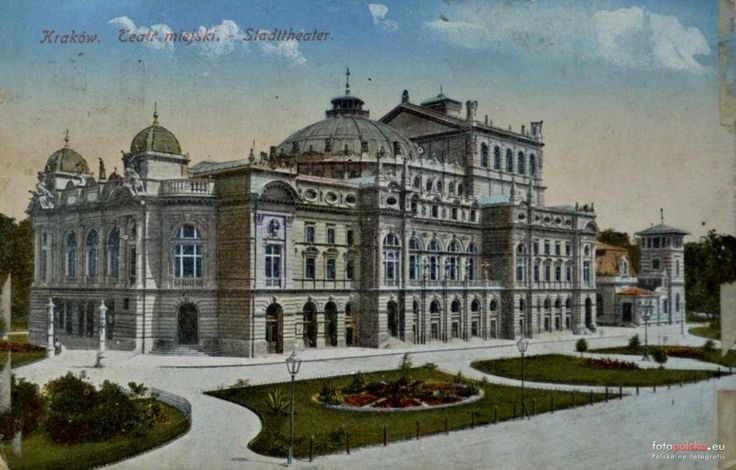 Teatr im. Juliusza Słowackiego, Kraków - 1905 rok, stare zdjęcia
