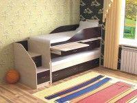 Детская двухъярусная кровать Дуэт-8 дуб молочный/венге