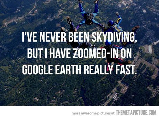 And that, my friends, is as close to skydiving as Tyler would ever want to get.