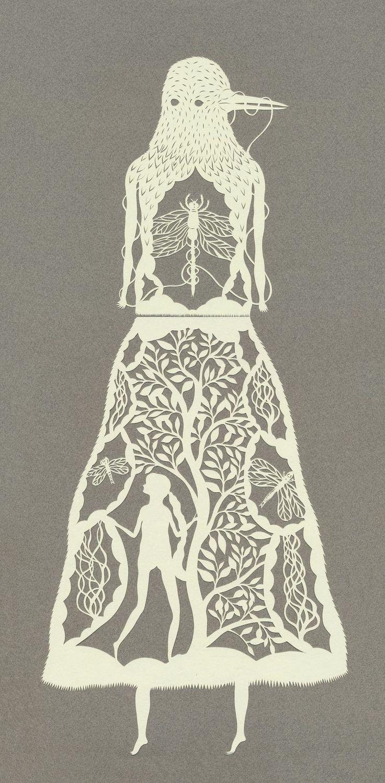 Paper art by Elsa Mora.