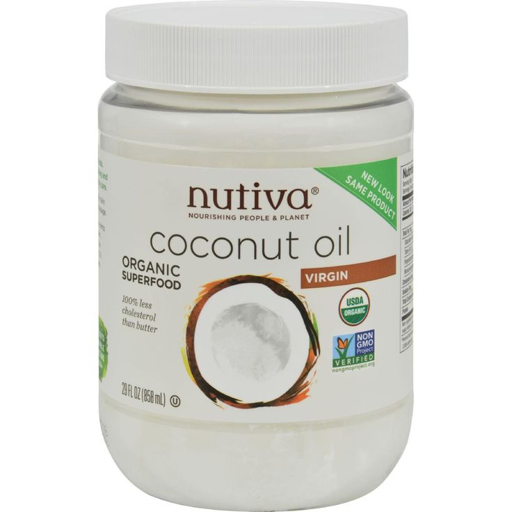 Nutiva Organic Extra Virgin Coconut Oil - 29 Oz Nourishing People and Planet USDA Organic World's Best Cooking Oil 100% Less Cholesterol than Butter Nature's Ideal All-Purpose Oil Non-GMO and Zero Trans Fats Certified Organic by Ecocert and QAI The Facts on Coconut Oil  Coconut is one of the world's most nourishing foods. Help yourself to this creamy taste of the tropics by enjoying up to 3 tablespoons of extra-virgin coconut oil each day.  Nutiva's Coconut Oil is:  Cold-Pressed and Pure…