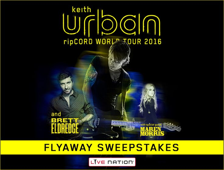 I just entered for a chance to win the Keith Urban Flyaway Sweepstakes!