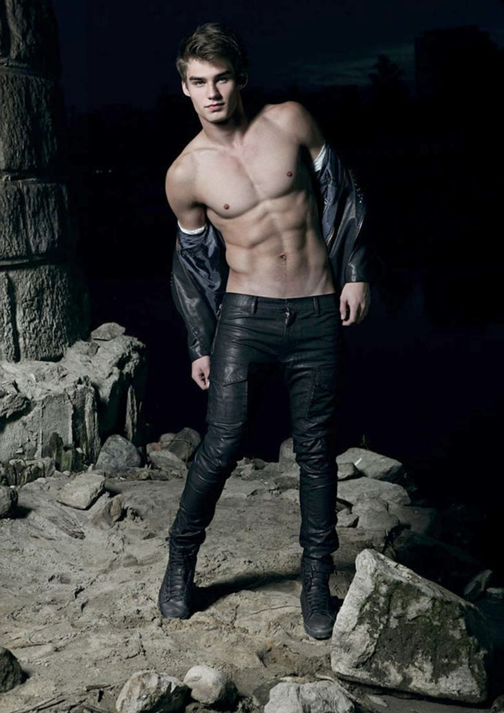 Adrian Suchecki Shirtless In Leather Jeans Hot Damn X Pinterest Leather