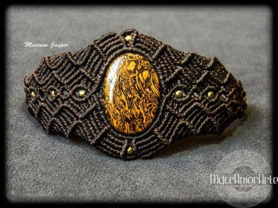 NEW Mariam Jasper macrame bracelet. Macrame por MacrAmorArt
