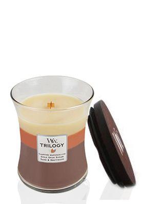 Woodwick Sunset Bonfire Trilogy Jar Candle