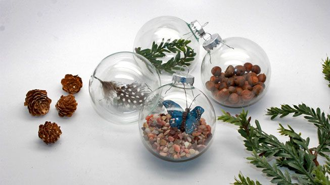 DIY Christmas ornaments add nature to your decorations
