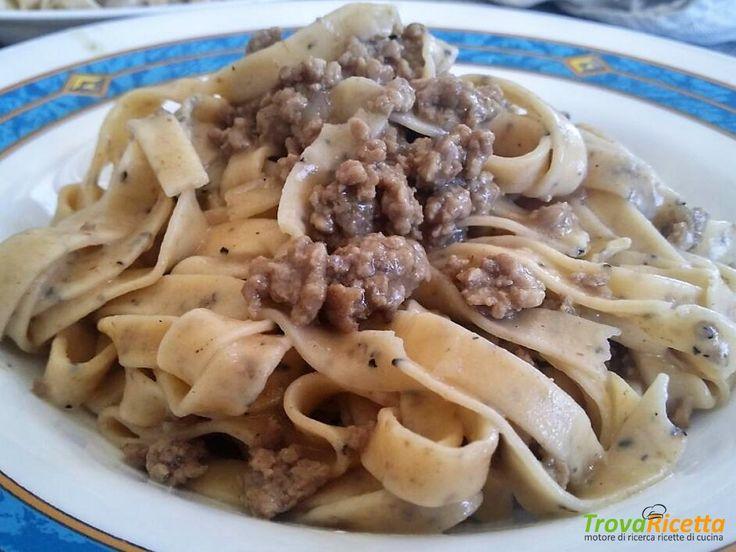 TAGLIATELLE AL TARTUFO CON RAGU BIANCO  #ricette #food #recipes