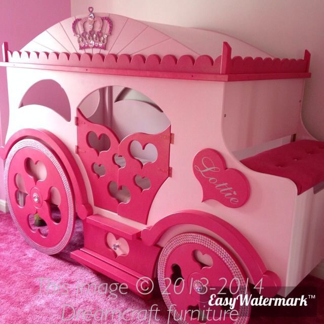 Princess carriage bed , handmade by www.dreamcraftfurniture.co.uk