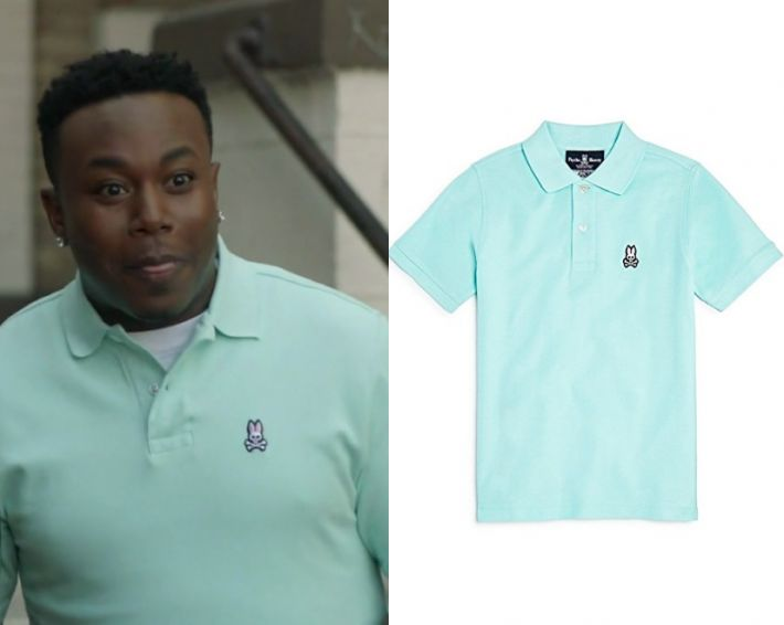 "T.K. Clifton (Marcel Spears) wears this light green bunny logo printed polo shirt in this episode of The Mayor, ""Pilot"". It is the Psycho Bunny Men's Classic Polo in Spring."