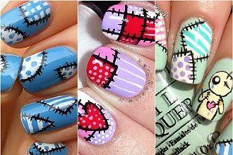 Patchworkowe wzorki na paznokcie - pomysł na wesoły manicure
