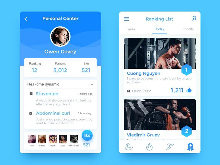 Personal Page App(fitness) shared via https://chrome.google.com/webstore/detail/design-hunt/ilfjbjodkleebapojmdfeegaccmcjmkd?ref=pinterest