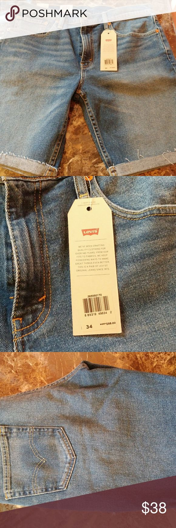 Levis 511 Blue Jean Shorts 34 Slim Levis 511 Blue Jean Shorts 34 Slim Short Cotton Blend New With Tags Levi's Shorts Jean Shorts