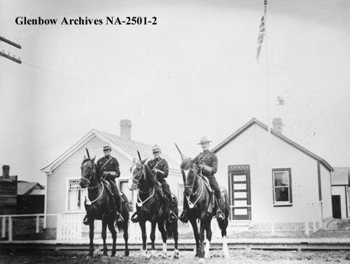c1914 Royal Canadian Mounted Police detachment, Drumheller, Alberta.