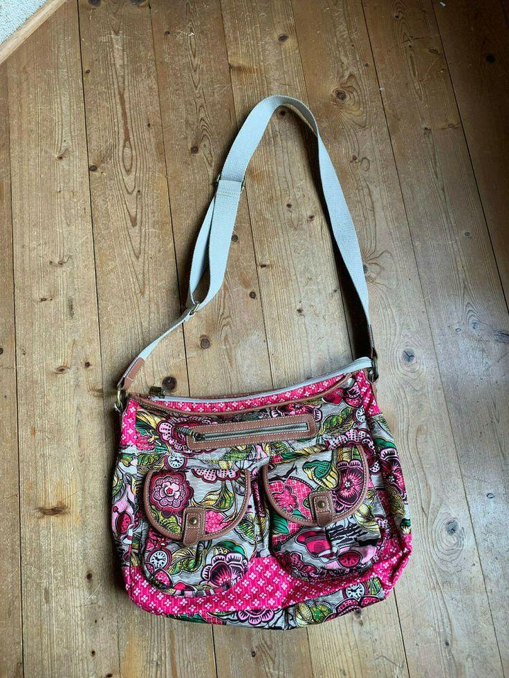 shopper tasche cross body bag von oilily bunt blumen 90er vintage