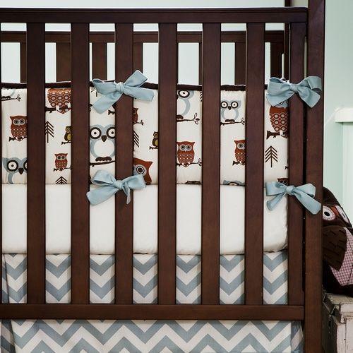 Retro Owls Crib Bumper | Carousel Designs 500x500 image: Crib Bedding, Owl Cribs, Retro Owl, Boxes Pleated, Cribs Bumper, Carousels Design, Cribs Beds, Cribs Skirts, Baby Boy