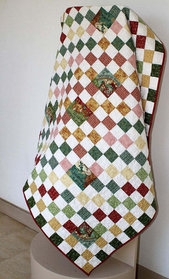 197 best QUILTs on ETSY images on Pinterest | Quilting designs ... : quilted lap throws - Adamdwight.com