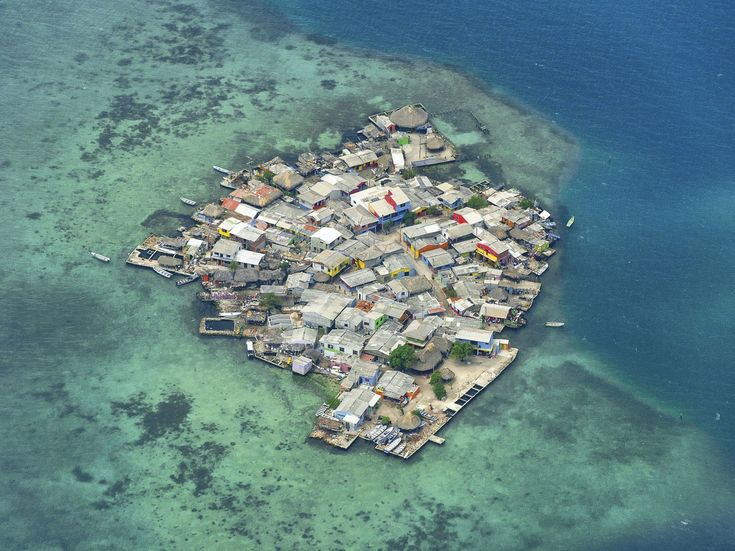 The Most Crowded Island on Earth Isn't Manhattan. It's Santa Cruz del Islote,  a small island in an archipelago off the coast of Colombia.