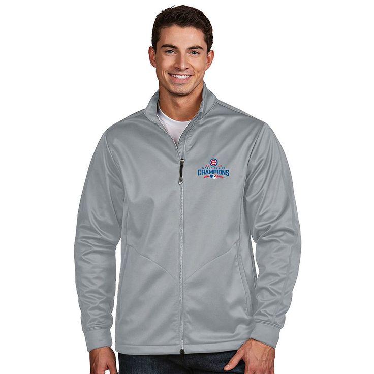 Men's Antigua Chicago Cubs 2016 World Series Champions Golf Jacket, Size: Medium, Silver