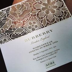 london fashion week show invitations - Google Search                                                                                                                                                                                 More