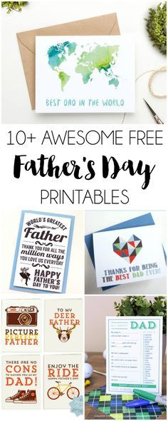 10+ Free Father's Day Printables | http://DawnNicoleDesigns.com