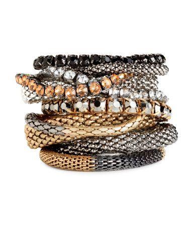 elasticated metal bracelets | H&M