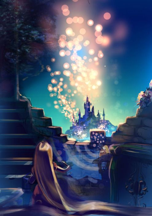 Floating Lanterns. My favorite Disney!  What a beautiful scene!