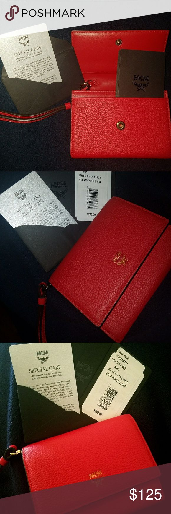 MCM Clutch PRICE DROP!!Small Chic MCM clutch for the on-the-go girl!!! MCM Bags Clutches & Wristlets