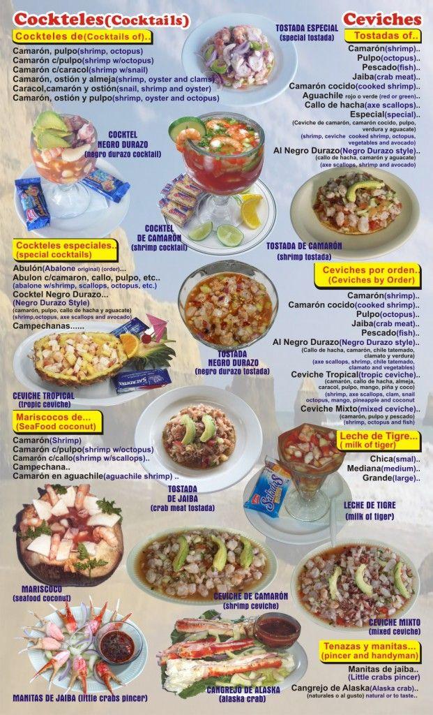 English Menu HTML How to cook shrimp, Ceviche, Recipes