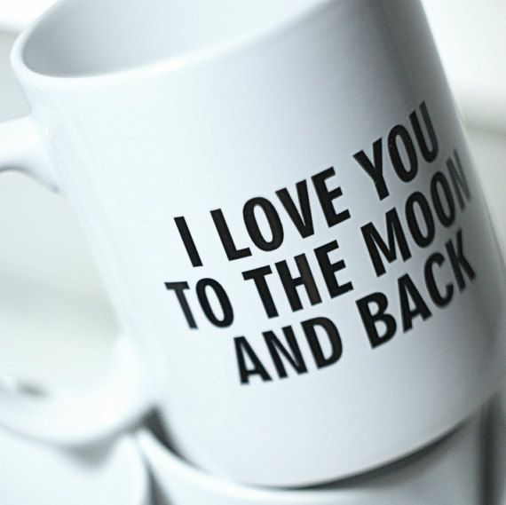 Personalized Mug Love Gift I Love you to the moon by MugYourself