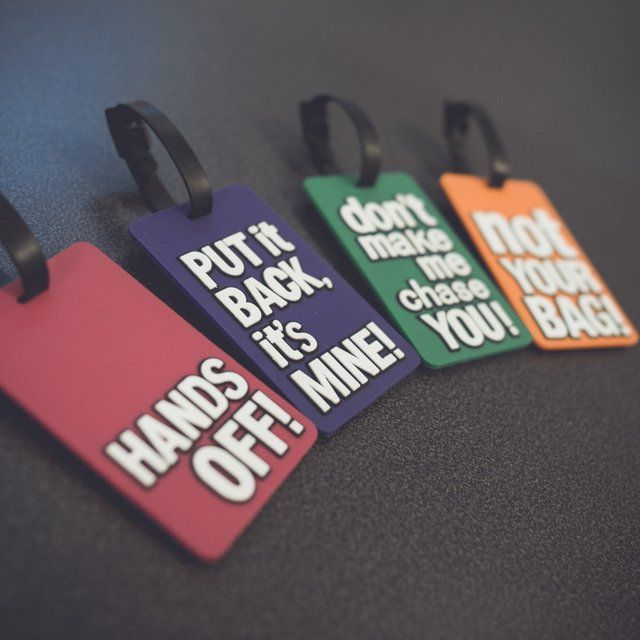 Luggage Tag Fun by Unikia #AssortedColors, #Funny, #Luggage, #Tag, #Travel, #Unconventional