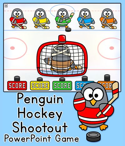 Penguin Hockey Shootout - Celebrate the upcoming Winter Olympic Games with this fun, whole class game for the interactive whiteboard.