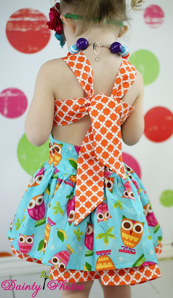 Create Kids Couture Poppy's Peekaboo Dress PDF Sewing Pattern