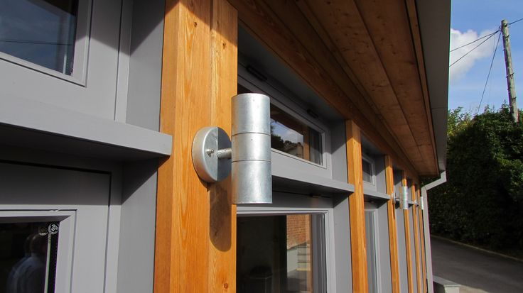Sustainable Timber Extension Bristol, Galvanised Lighting High Level Grey Windows