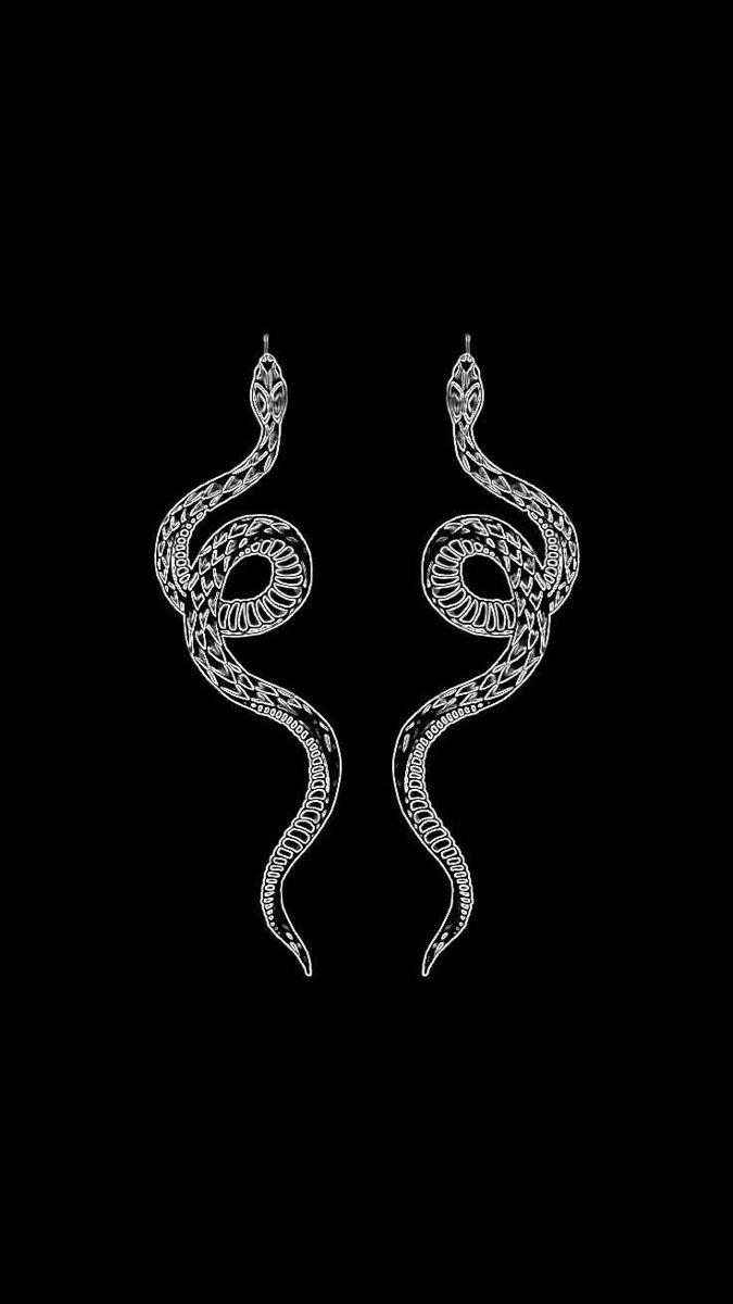 Snakes Snake Drawing Snake Wallpaper Black Aesthetic Wallpaper
