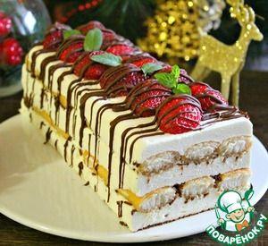 """Десерт """"Рождественский"""" без выпечки"""