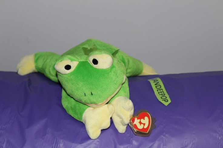 Ty Pillow Pal Ribbit Frog 14 Quot Stuffed Animal Plush Ty