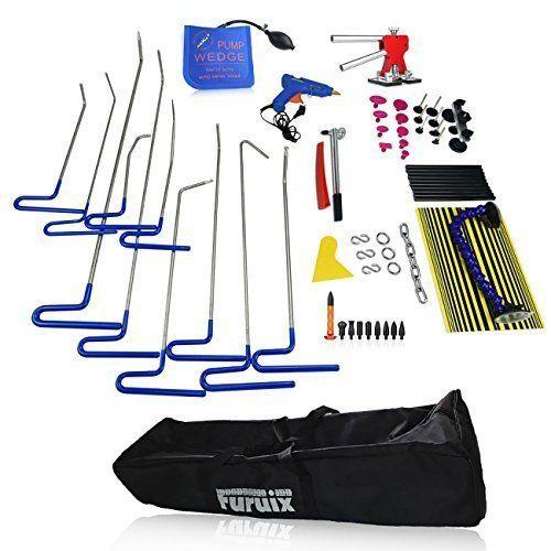 Furuix 62pcs PDR Kit Car Ding Repair Kits Paintless Dent Removal  #Furuix