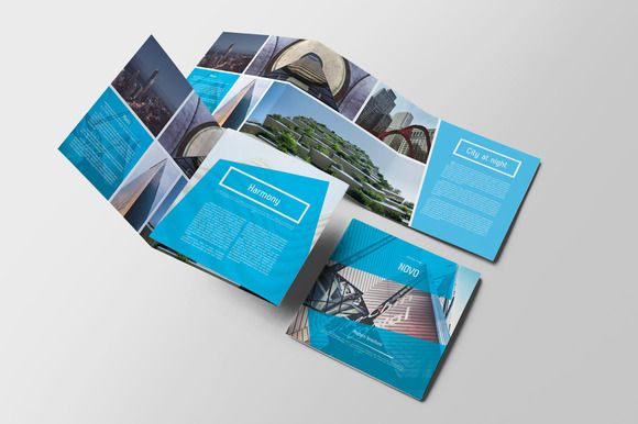 Novo Square Trifold Brochure by Kahuna Design on @creativemarket
