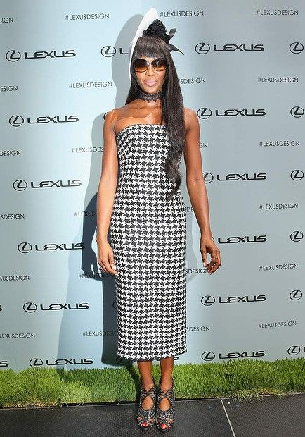 Naomi Campbell Fashions at Flemington on Victoria Derby Day on November 2, 2013