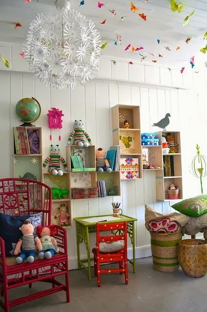Lovely: Eclectic kids' rooms